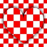 Checkerboard heart Royalty Free Stock Photos