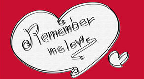 Heart symbol remember tell me love red soft form, Royalty Free Stock Photos