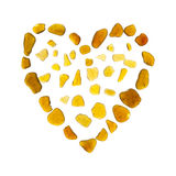 Heart symbol of sea glass Royalty Free Stock Photography