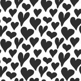 Heart symbol seamless pattern vector illustration. Hand drawn sketch doodle background. Saint Valentains Day or womens day backgro. Und vector illustration