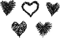Heart Symbol Sketch Stock Image