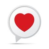 Heart Symbol Speech Bubble Stock Photography