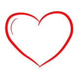 Heart symbol of Valentine`s Day, vector illustration contour Royalty Free Stock Image