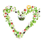 Heart symbol from vegetable Stock Image