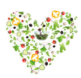 Heart symbol from vegetable Royalty Free Stock Photography