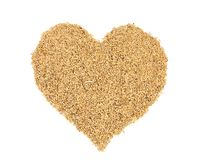 Heart symbol of wheat grains. Royalty Free Stock Photo
