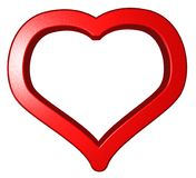 Heart symbol on white background Stock Photo