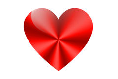Heart. Symbol on white background - the day of St. Valentine Royalty Free Stock Photo