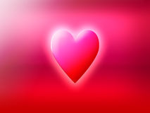 Heart symbolizing love. Pink glowing heart symbolizing feelings of love Royalty Free Illustration