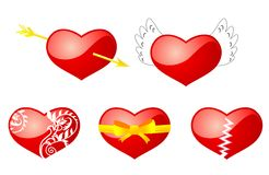 Heart symbols Stock Image