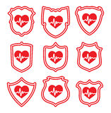 Heart symbols, vector  Royalty Free Stock Photography