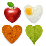 Heart symbols set Stock Photography