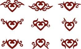 Heart symbols Stock Photos