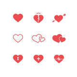 Heart Symbols Set Royalty Free Stock Image