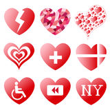 Heart Symbols. For Valentines Day Stock Image
