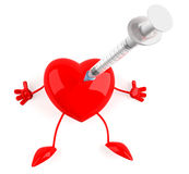 Heart with a syringe Royalty Free Stock Photo