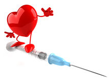 Heart with a syringe Royalty Free Stock Image