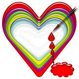 Heart. T-shirt design blood falling from heart Royalty Free Stock Image