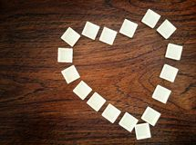 Heart on the table. Stock Images
