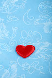 Heart on the tablecloth Royalty Free Stock Photo