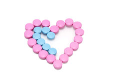Heart of the tablets Royalty Free Stock Photos