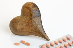 Heart with Tablets Royalty Free Stock Image