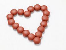 Heart of tablets Royalty Free Stock Photos