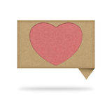 Heart tag recycled paper Stock Photography