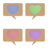 Heart tag recycled paper Royalty Free Stock Photos