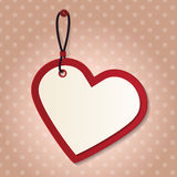Heart tag Stock Images