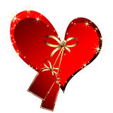 Heart with tags. Festive red heart with tags, this illustration may be useful as designer works Stock Image