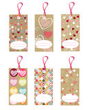 Heart tags Stock Image