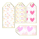 Heart tags or labels Stock Images