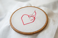 Heart on tambour Royalty Free Stock Image