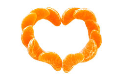 The Heart from tangerine. Royalty Free Stock Photo