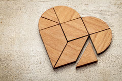 Heart tangram Stock Photo