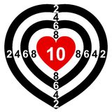 Heart-Target. Target in the form of heart Royalty Free Stock Image