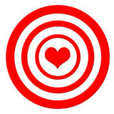 Heart target. Being in love and taking it right in the heart Stock Photography