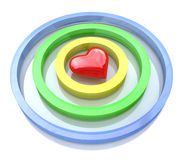 Heart in a target Royalty Free Stock Images