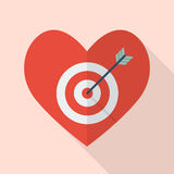 Heart with target Royalty Free Stock Image