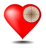 Heart target Stock Image
