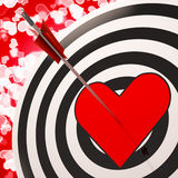 Heart Target Shows Success In Romance. Heart Target Shows Success In Love And Romance Stock Photos