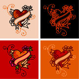 Heart tattoo Royalty Free Stock Photos