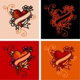 Heart tattoo Royalty Free Stock Photos