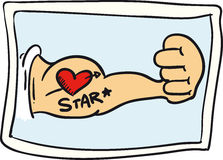 Heart Tattoo Royalty Free Stock Photo