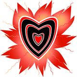 Heart for tattoo Stock Photography