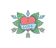 Heart Tattoo colored Royalty Free Stock Photography