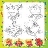 Heart Tattoo Design - flash set Stock Photos