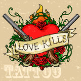 Heart Tattoo Design Royalty Free Stock Images