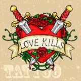Heart Tattoo Design Stock Images